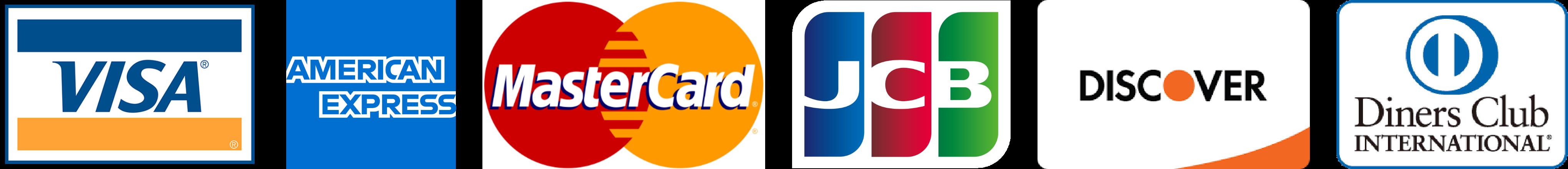 対応カード会社ロゴ